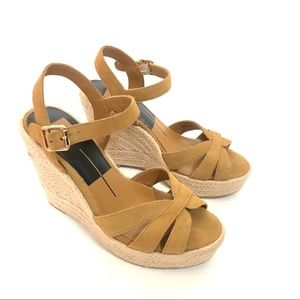 Dolce Vita faux suede espadrille wedge sandals 6.5